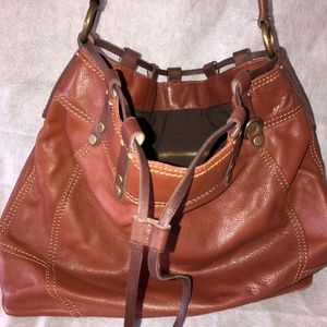 Lucky Brand Leather Hobo Bag